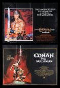 CONAN THE BARBARIAN (1982), CONAN THE DESTROYER (1984) - Two UK Quads, 1982, 1984