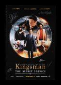 KINGSMAN: THE SECRET SERVICE (2014) - Poster Autographed by Samuel L. Jackson, Taron Egerton and Oth