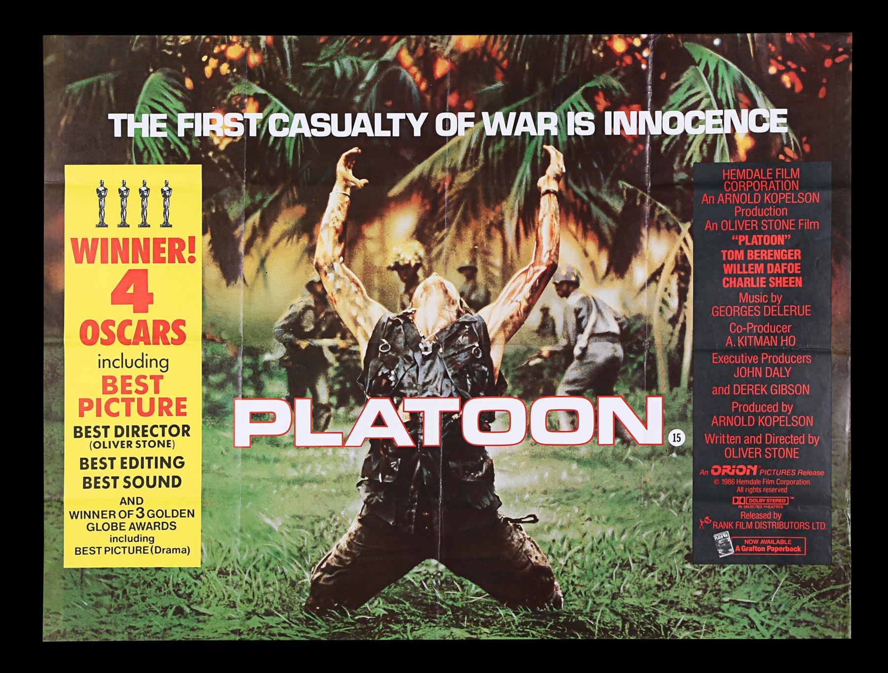 DEER HUNTER (1978), PLATOON (1986), RAGING BULL (1980) - Two UK Quads, US One-Sheet, 1978, 1980, 198 - Image 6 of 7