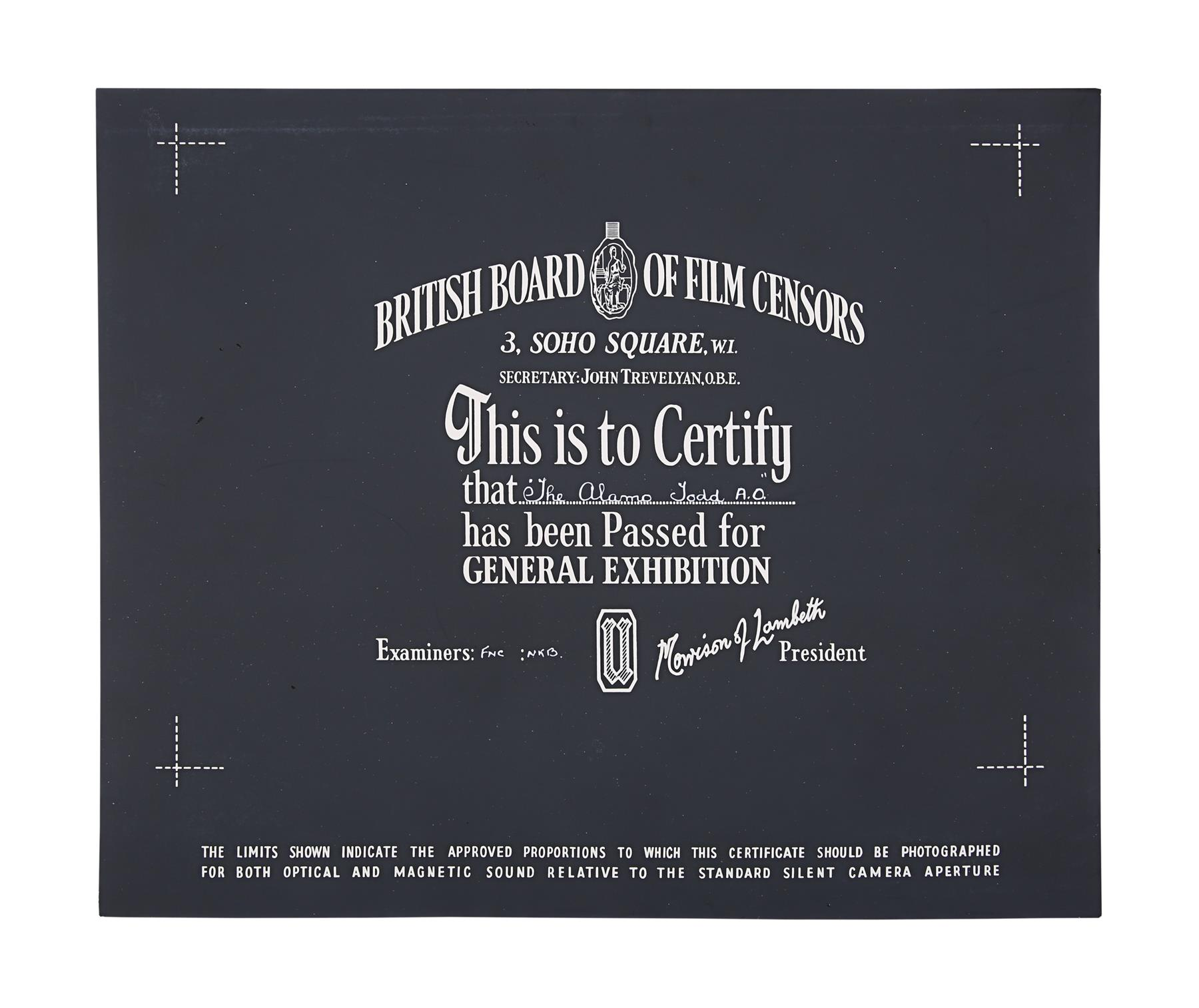 VARIOUS WESTERN PRODUCTIONS - BBFC Certificates - Image 3 of 5