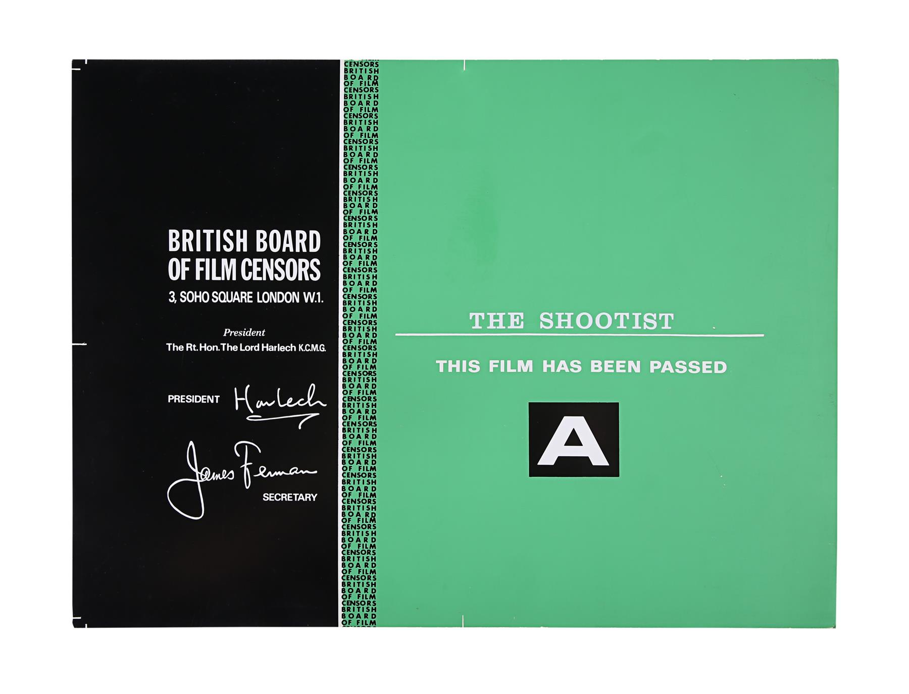 VARIOUS WESTERN PRODUCTIONS - BBFC Certificates - Image 5 of 5