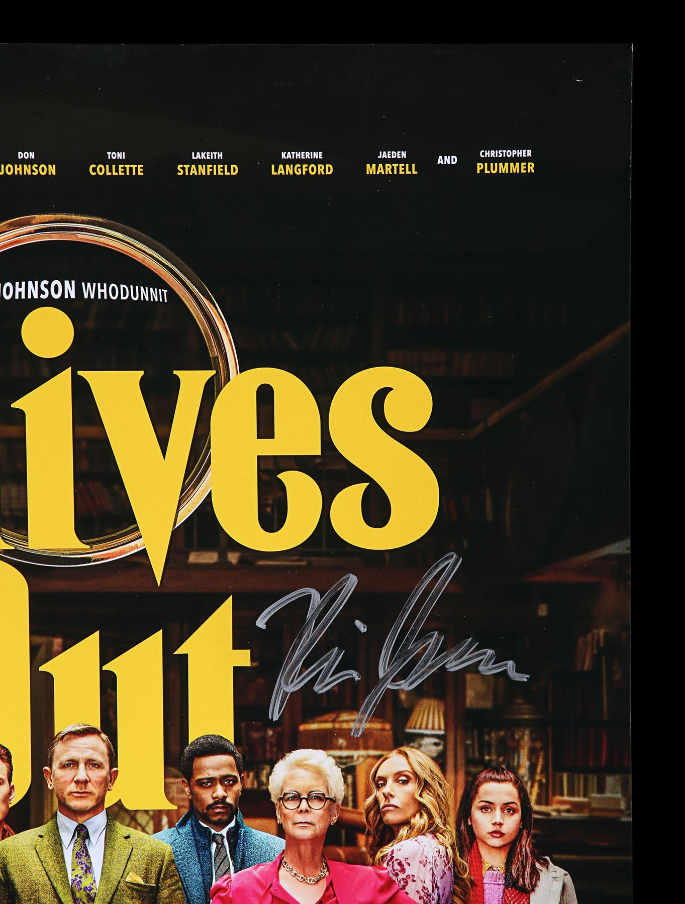 KNIVES OUT (2019) - Poster, 2019, Autographed by Daniel Craig, Chris Evans and Others - Image 3 of 7