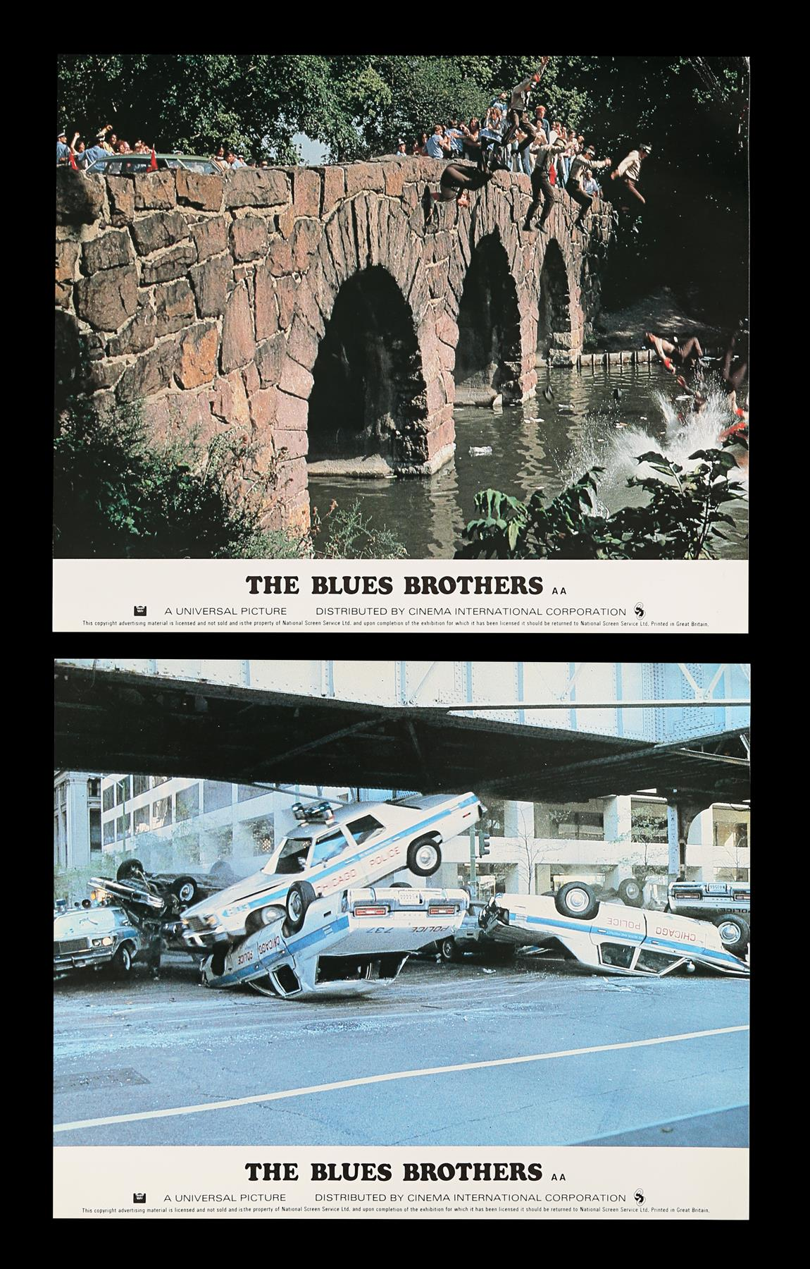 THE BLUES BROTHERS (1980) - Eight British Front of House Lobby Cards, 1980 - Image 3 of 5