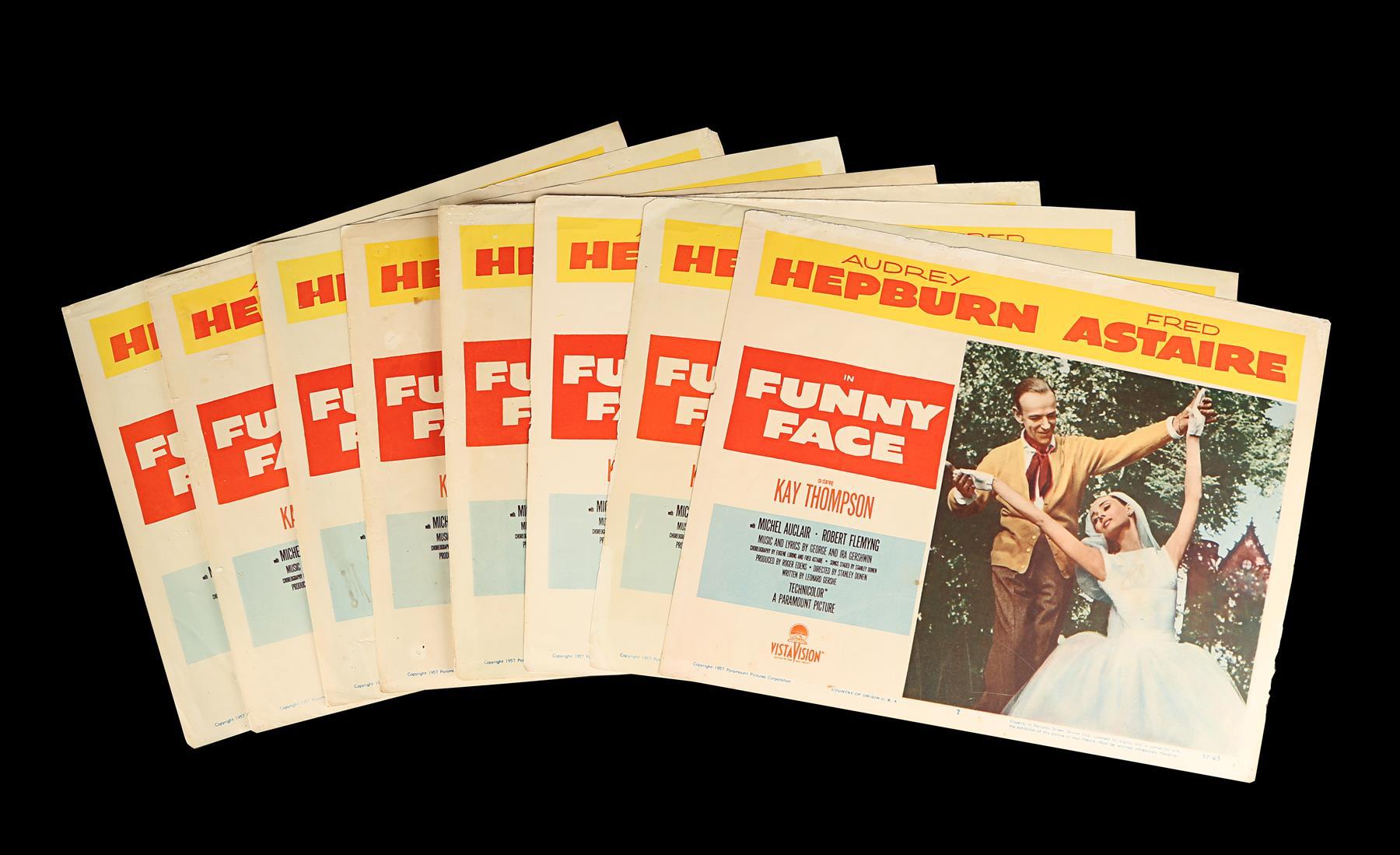 FUNNY FACE (1957) - Eight US Lobby Cards, 1957