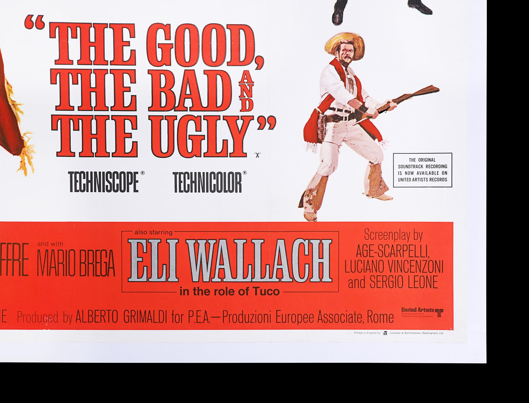 THE GOOD, THE BAD AND THE UGLY (1966) - UK Quad, 1968 - Image 4 of 7