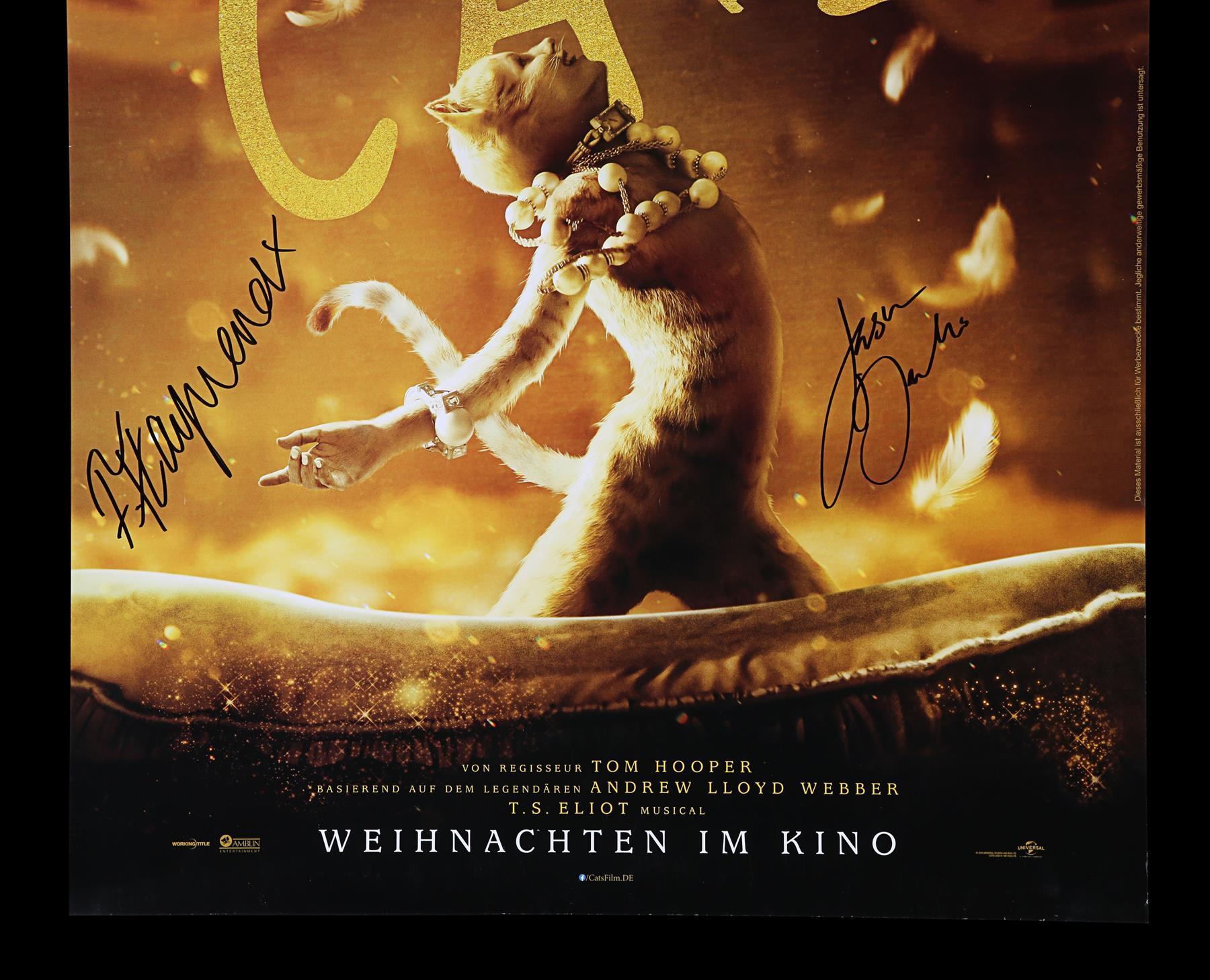 CATS (2019) - Poster, 2019, Autographed by Jason Derulo and Francesca Hayward - Image 3 of 6