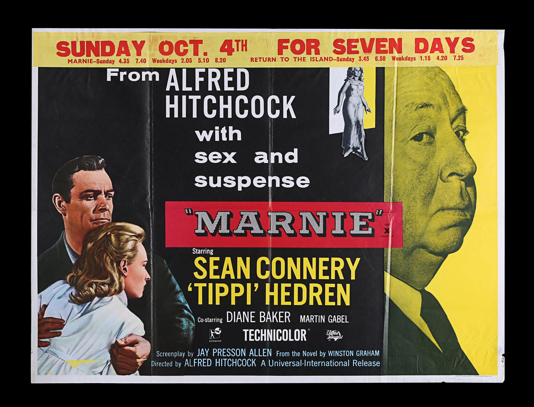 ROPE (1948), MARNIE (1964) - Two UK Quads, 1958, 1964 - Image 6 of 9