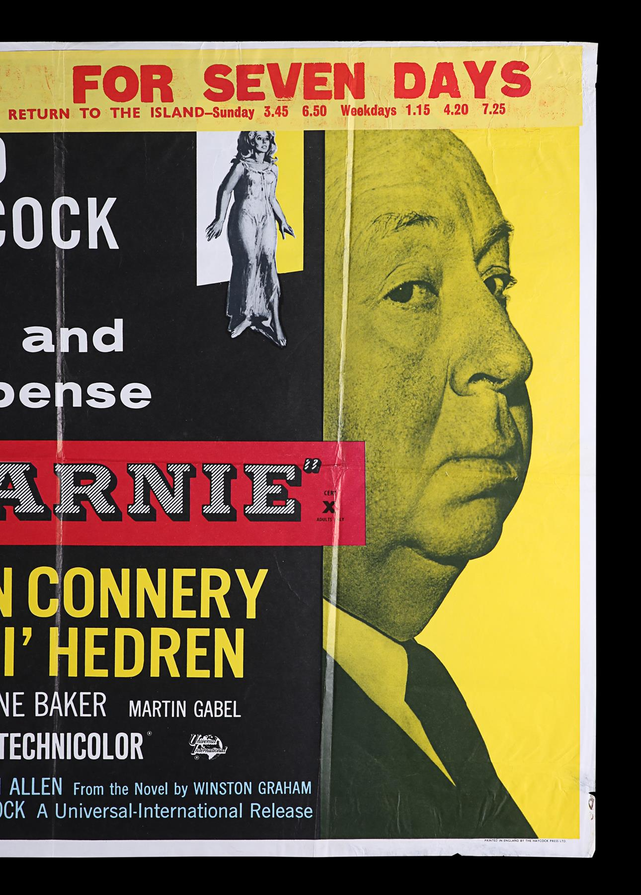 ROPE (1948), MARNIE (1964) - Two UK Quads, 1958, 1964 - Image 7 of 9