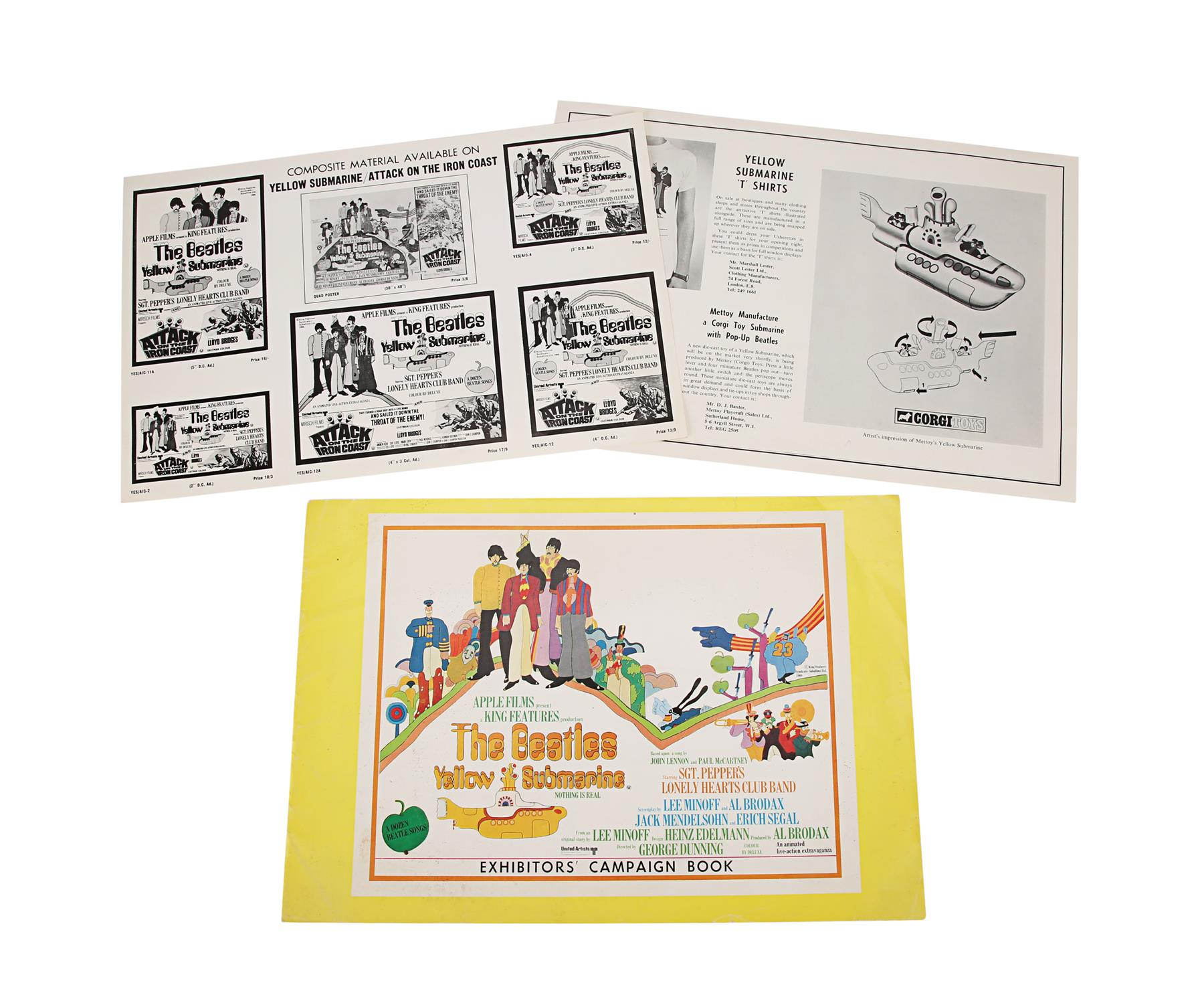 YELLOW SUBMARINE (1968) - British Exhibitors' Campaign Book and Two Advertising Supplements, 1968