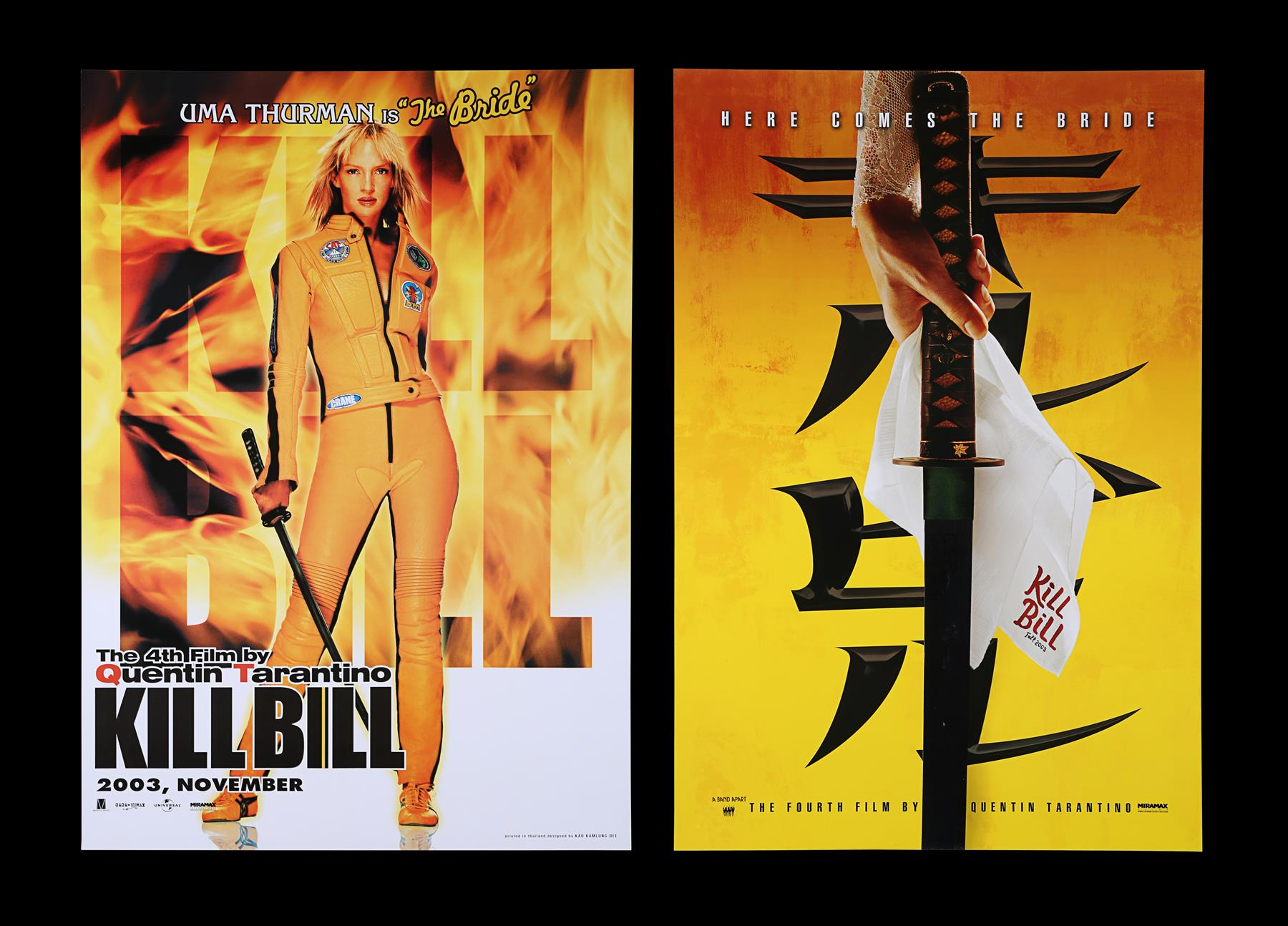 KILL BILL (2003) - US One-Sheet and Thai One-Sheet, 2003