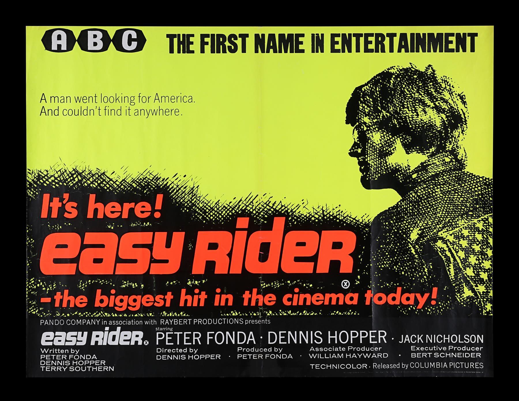 EASY RIDER (1969) - UK Quad, 1969