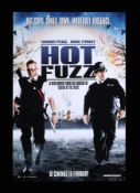HOT FUZZ (2007) - Reproduction Poster, 2007, Autographed by Simon Pegg, Nick Frost and Paul Freeman