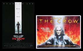 THE CROW (1994) - US One-Sheet and UK Quad, 1994