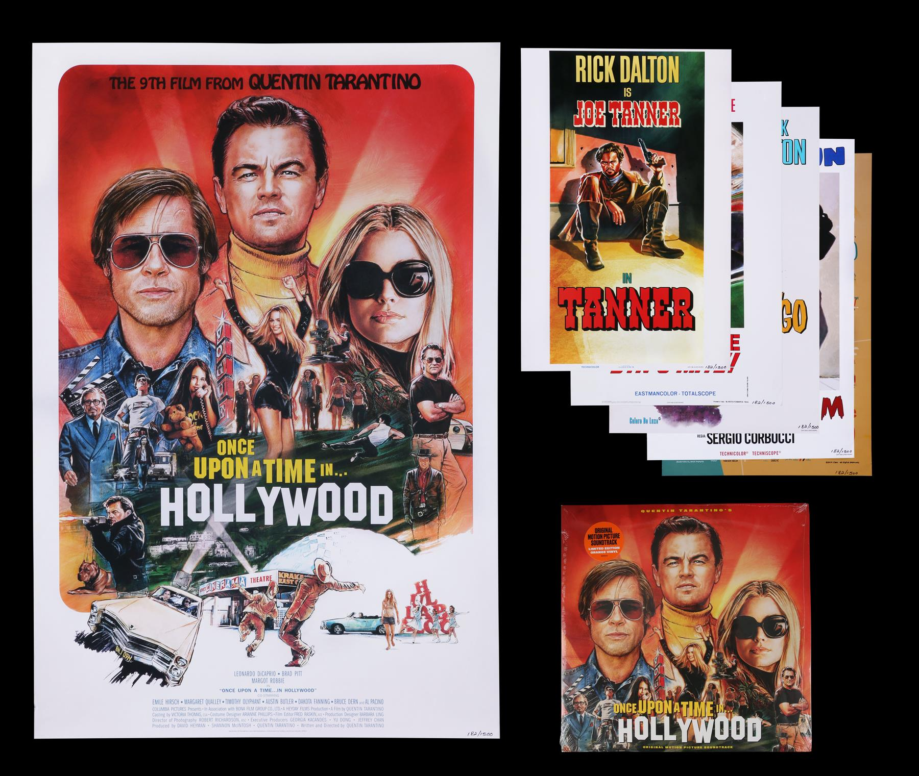 ONCE UPON A TIME IN HOLLYWOOD (2019) - Limited Edition Numbered Soundtrack Album and Posters, 2019