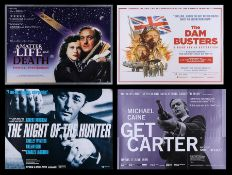GET CARTER (1971), DAM BUSTERS (1955), A MATTER OF LIFE AND DEATH (1946), NIGHT OF THE HUNTER (1955)