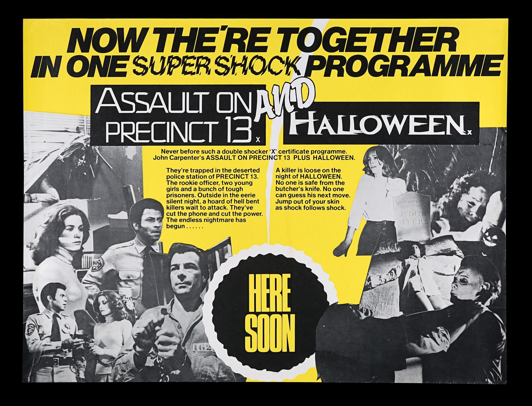 ASSAULT ON PRECINCT 13 (1976), HALLOWEEN (1979) - Two UK Quads, 1979 - Image 2 of 5