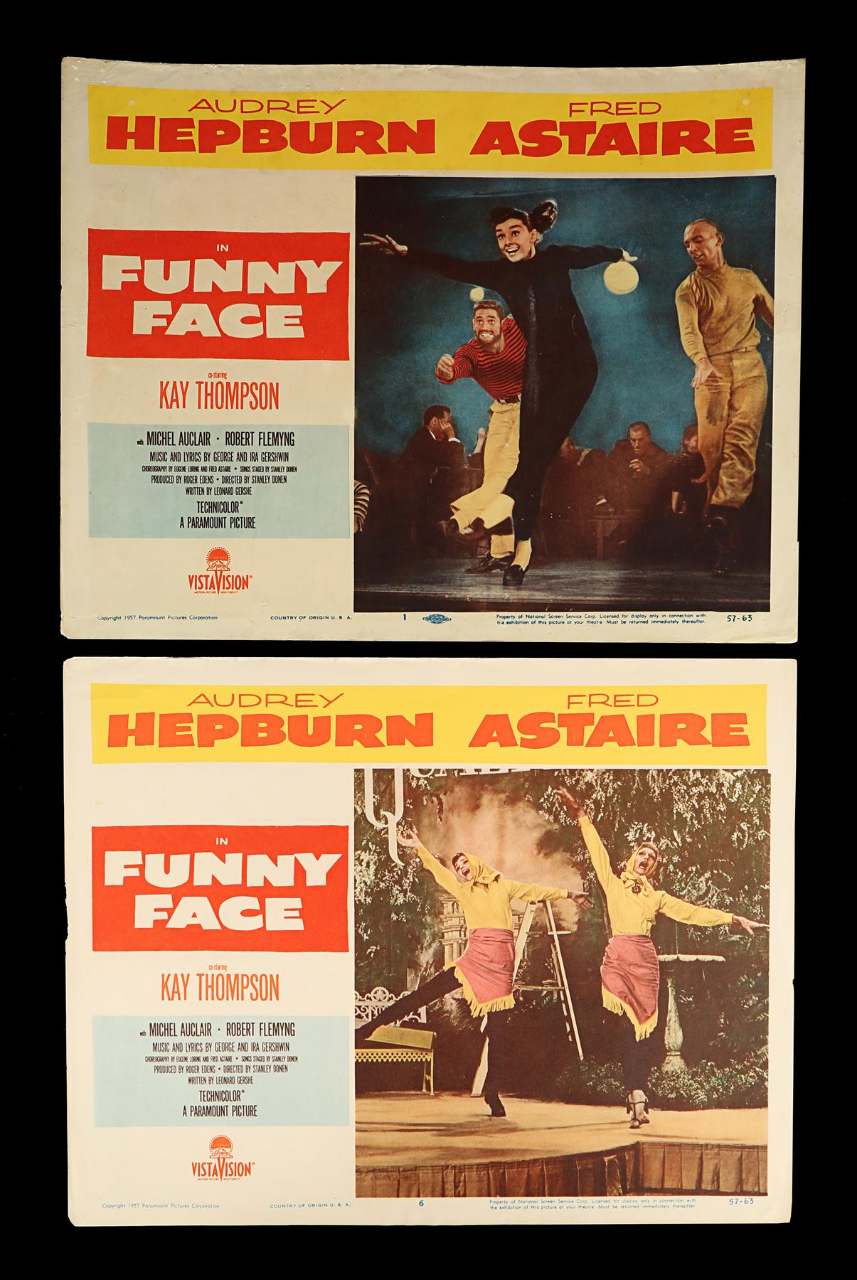 FUNNY FACE (1957) - Eight US Lobby Cards, 1957 - Image 3 of 5