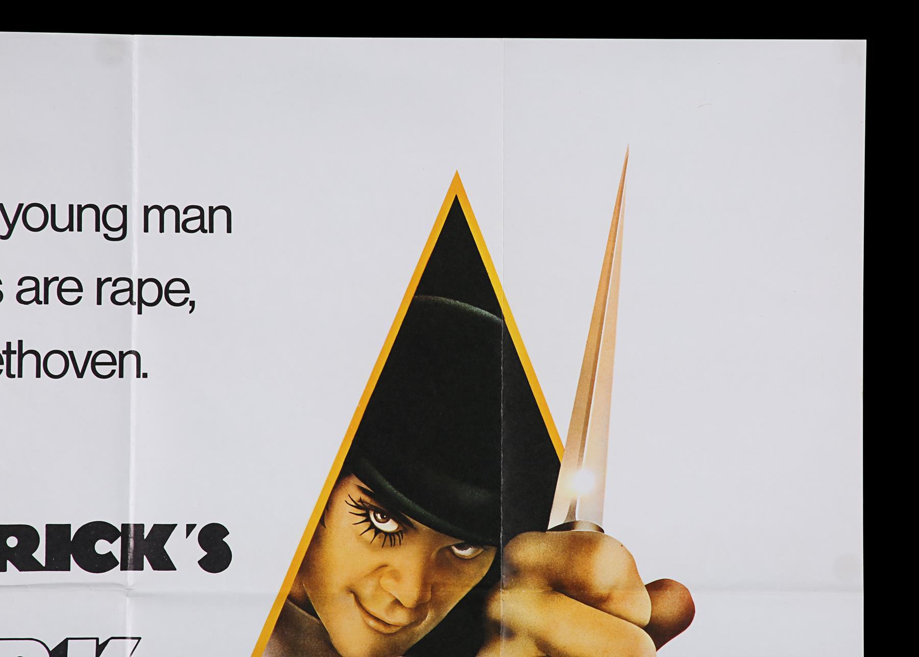 A CLOCKWORK ORANGE (1971) - UK Quad, 1971 - Image 3 of 6
