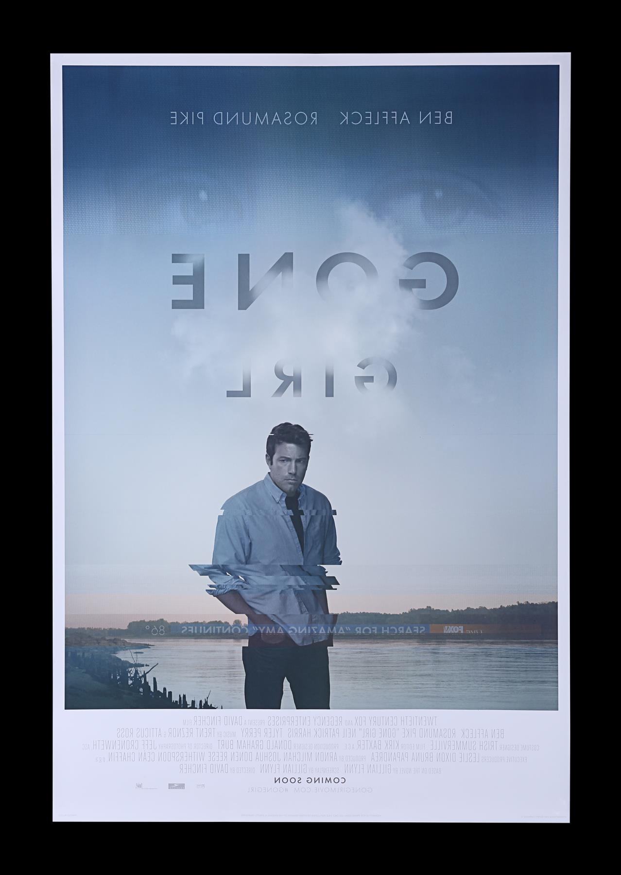 GONE GIRL (2014) - Poster Autographed by David Fincher and Rosamund Pike - Image 7 of 7