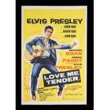 LOVE ME TENDER (1956) - UK Double Crown, 1956