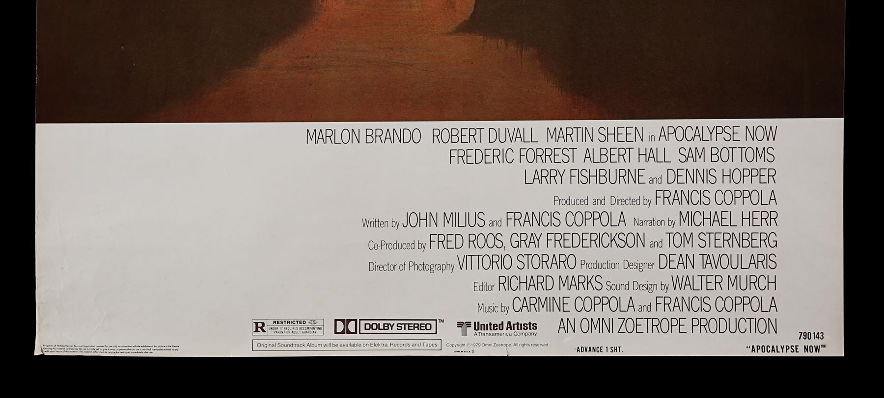 APOCALYPSE NOW (1979) - US One-Sheet, 1979 - Image 2 of 5