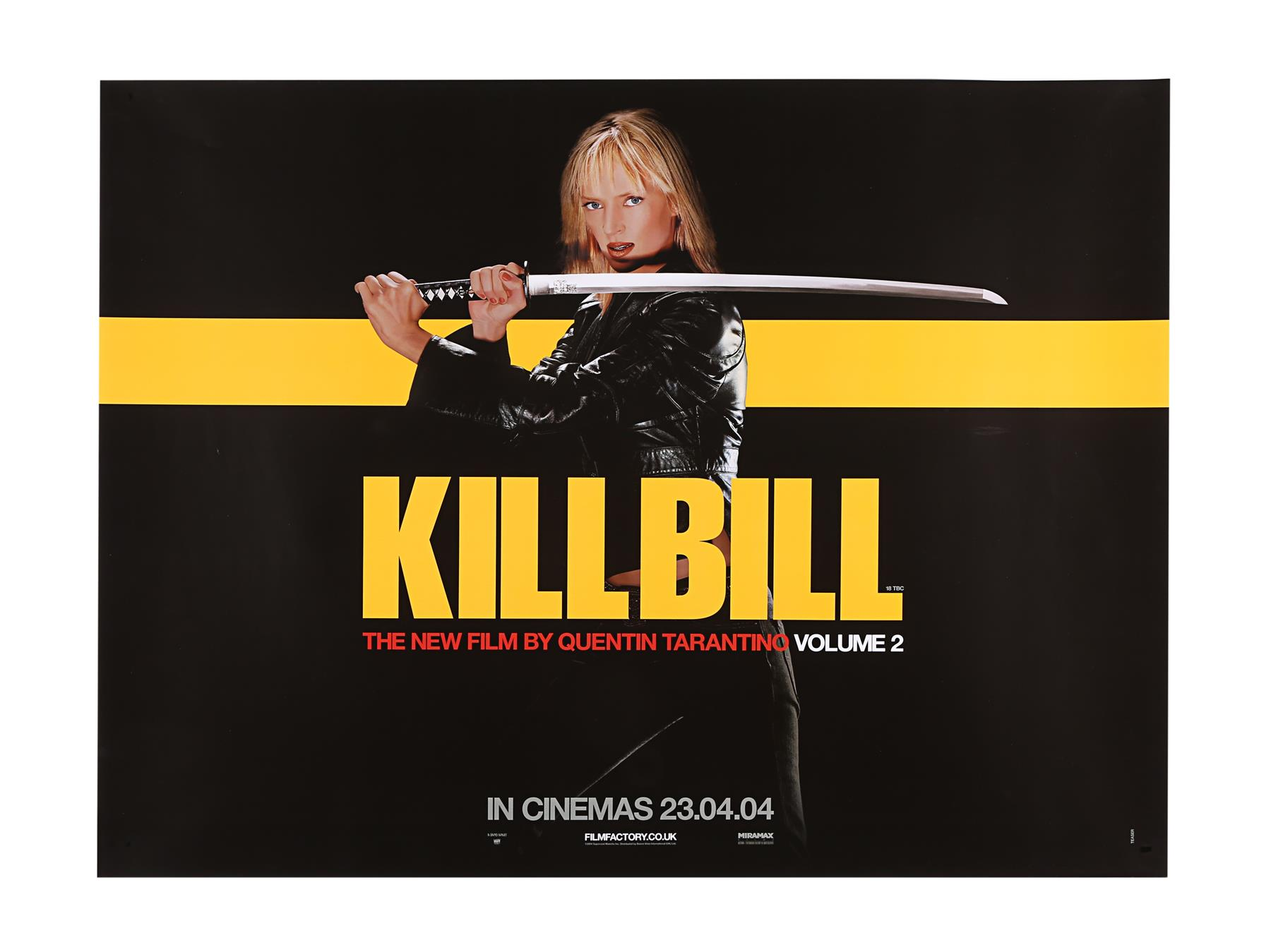 KILL BILL (2003), KILL BILL: VOLUME II (2004) - Two UK Quads, 2003 and 2004 - Image 2 of 9