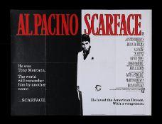 SCARFACE (1983) - UK Quad, 1983