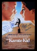 THE KARATE KID (1984) - Poster, 1980's, Autographed by Ralph Macchio, William Zabka and Others