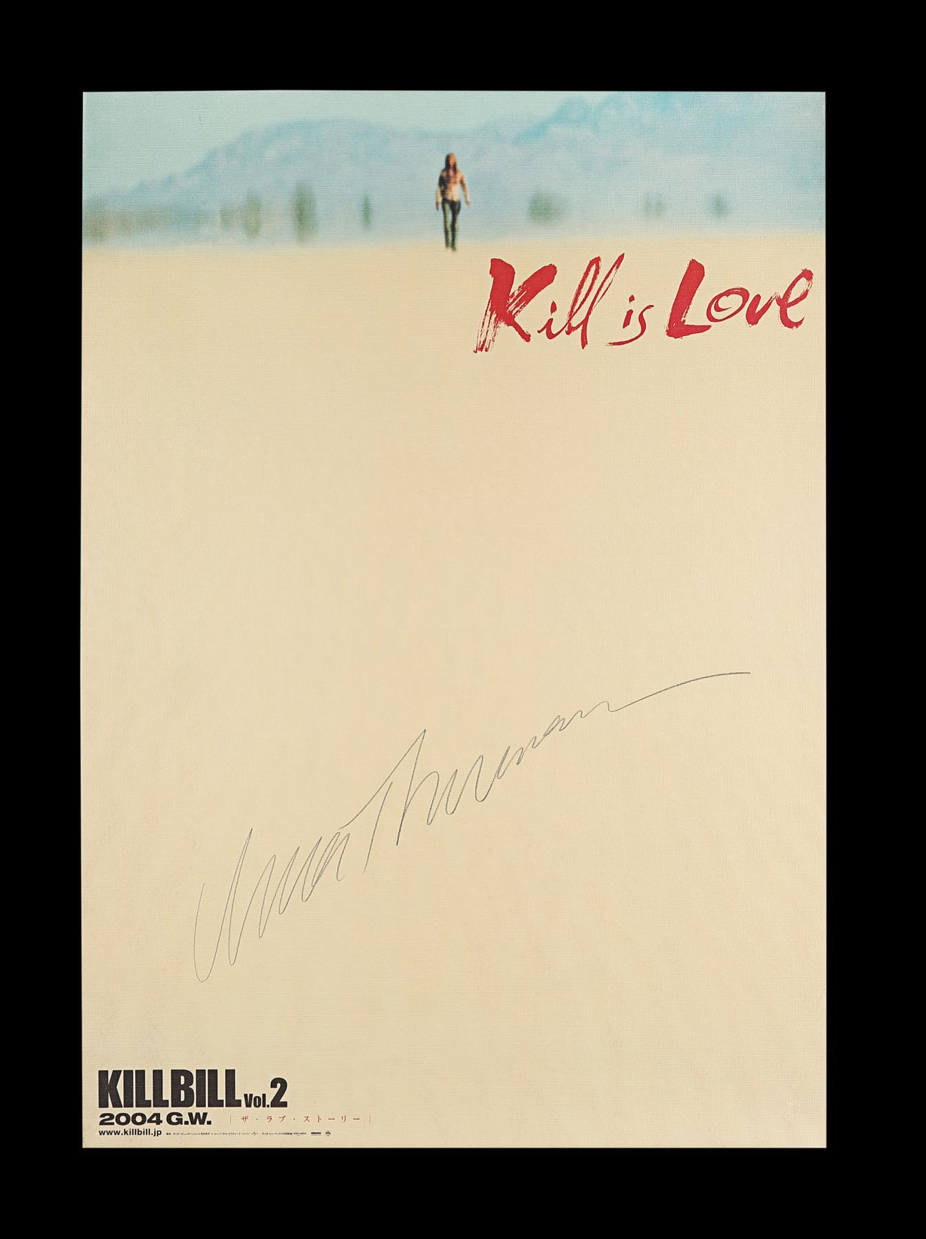 KILL BILL: VOLUME II (2004) - Japanese B1, 2004, Autographed by Uma Thurman