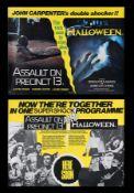 ASSAULT ON PRECINCT 13 (1976), HALLOWEEN (1979) - Two UK Quads, 1979