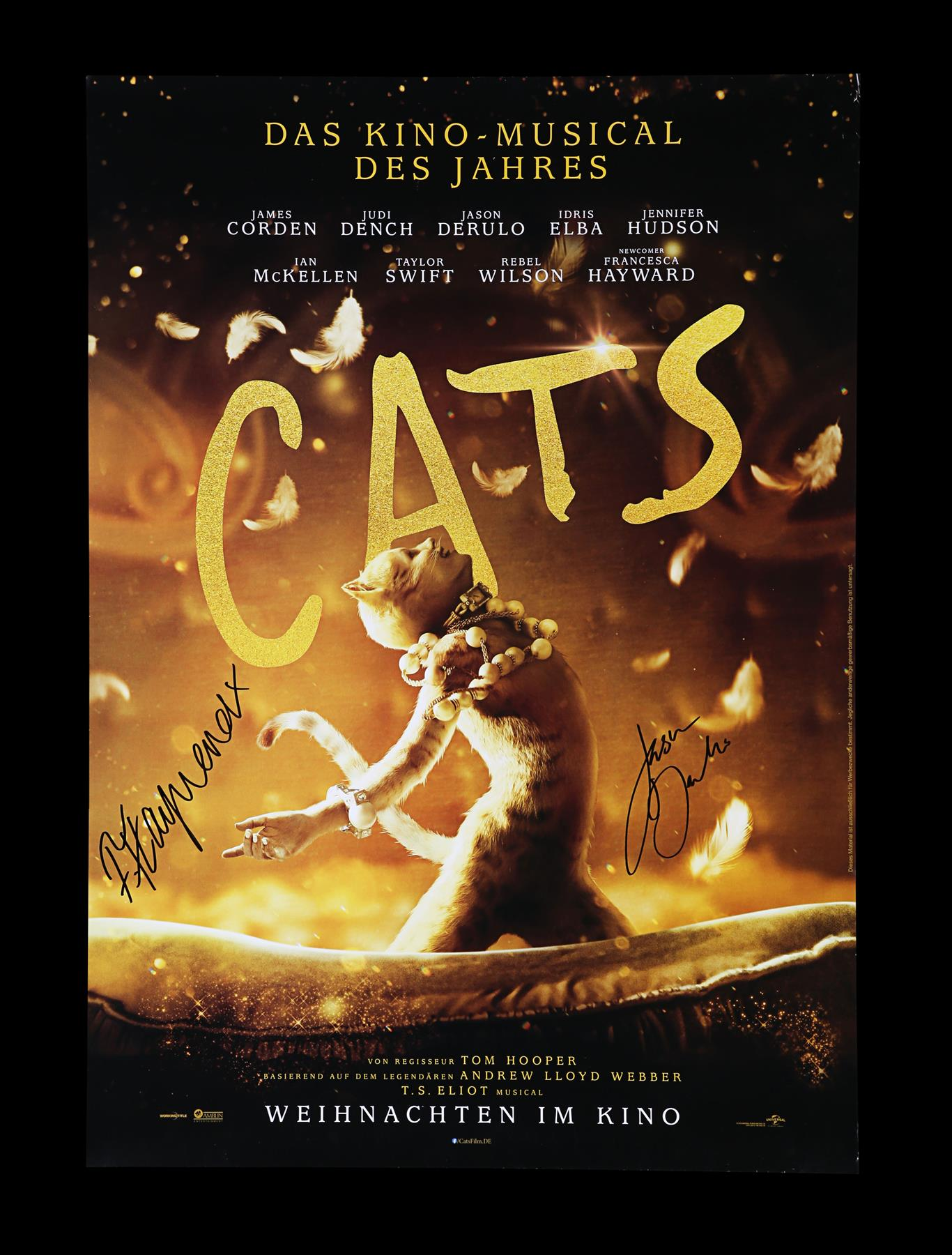 CATS (2019) - Poster, 2019, Autographed by Jason Derulo and Francesca Hayward