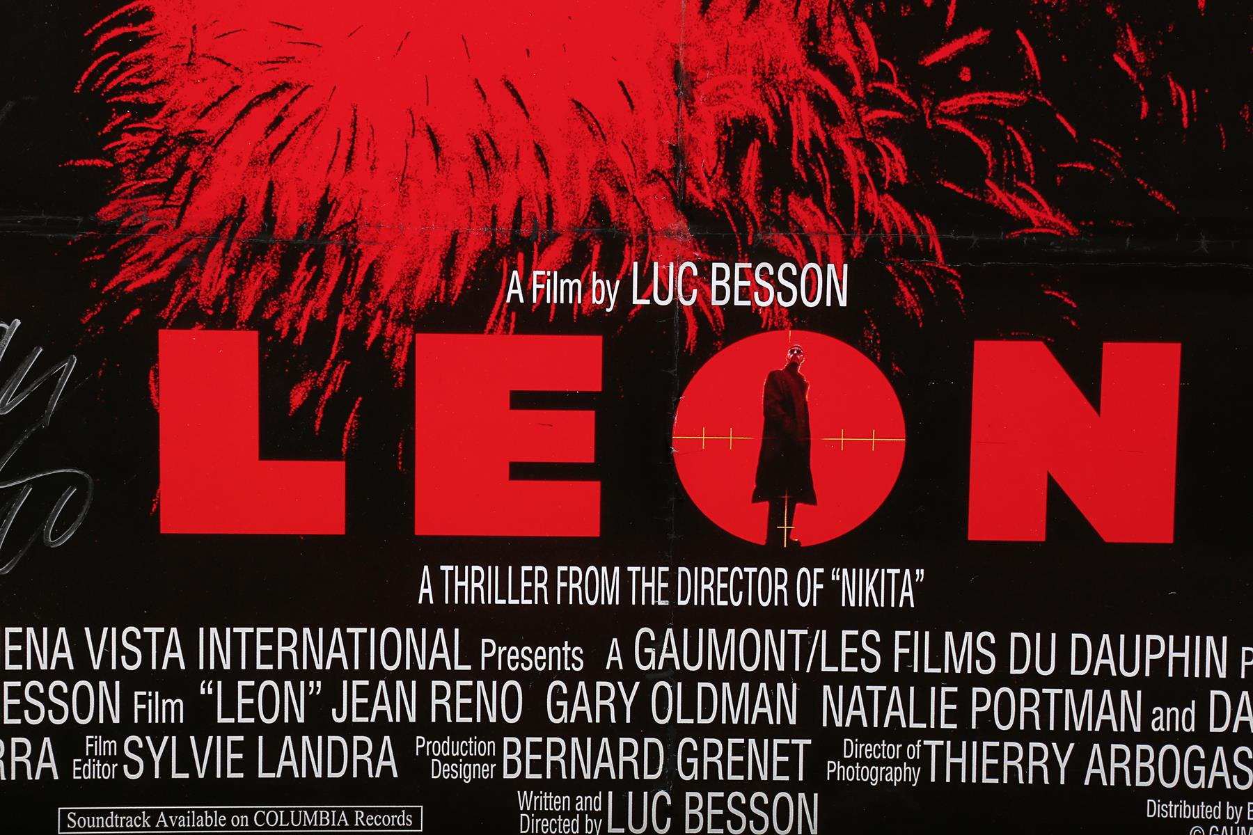 LEON (1994) - UK One-Sheet, 1994, Autographed by Jean Reno - Image 5 of 5