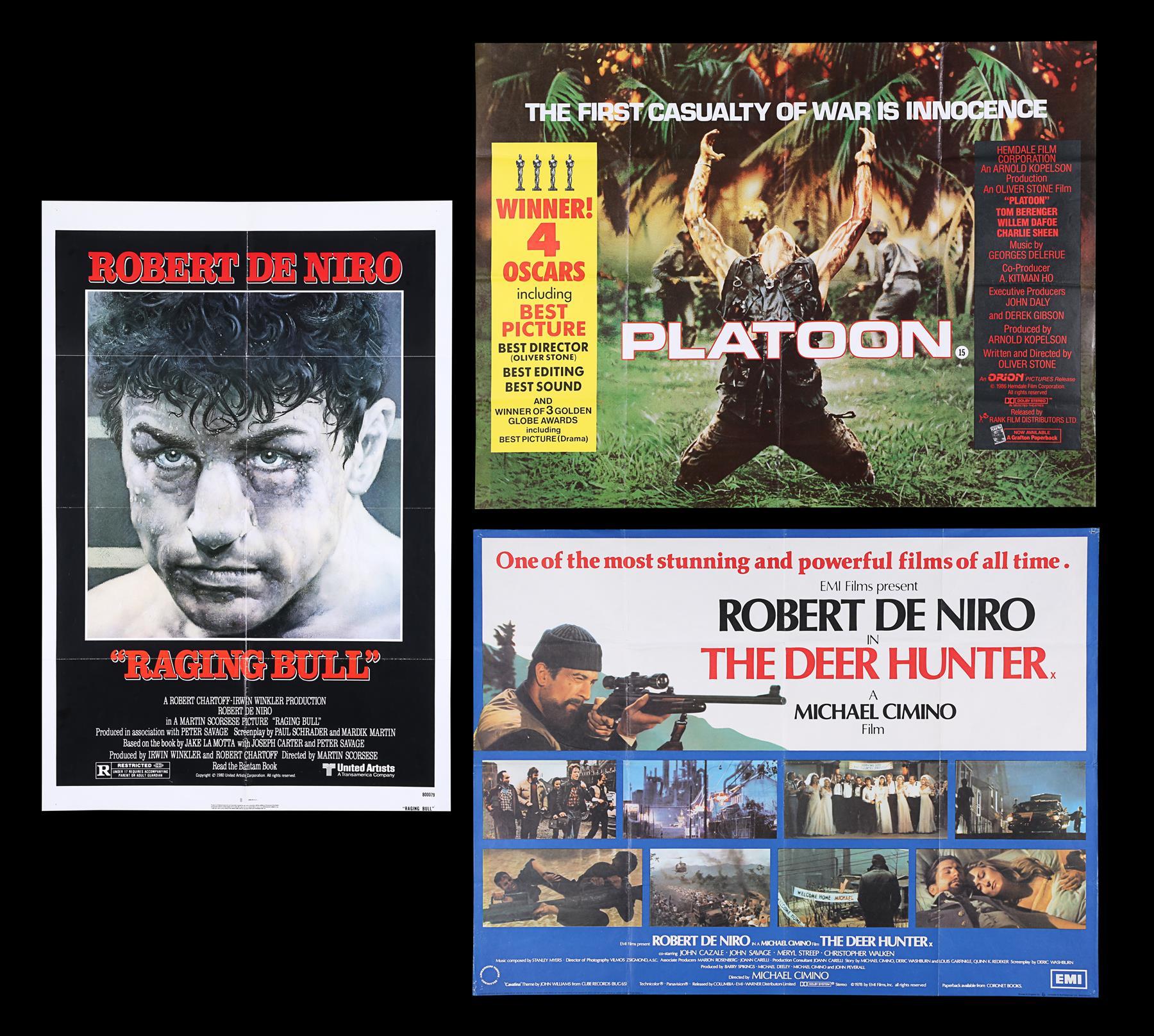 DEER HUNTER (1978), PLATOON (1986), RAGING BULL (1980) - Two UK Quads, US One-Sheet, 1978, 1980, 198