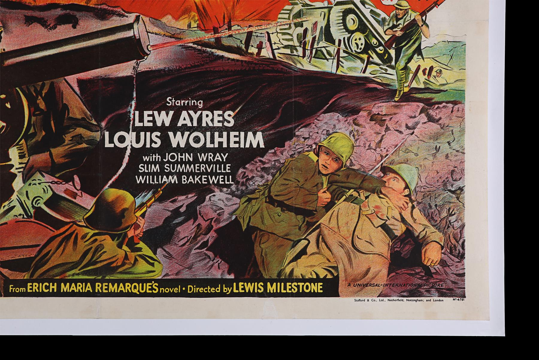 ALL QUIET ON THE WESTERN FRONT (1930) - UK Quad, 1950 - Image 4 of 6