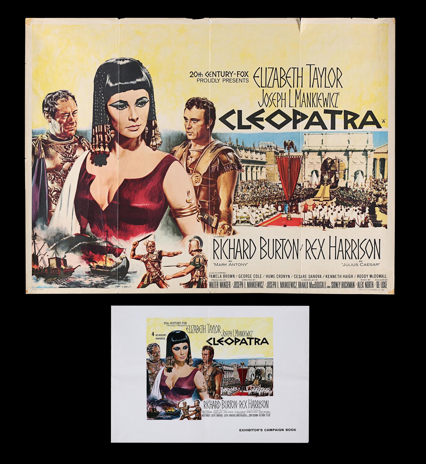 CLEOPATRA (1963) - UK Quad and Exhibitors Campaign Book, 1963