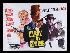 CARRY ON SPYING (1964) - UK Quad, 1964