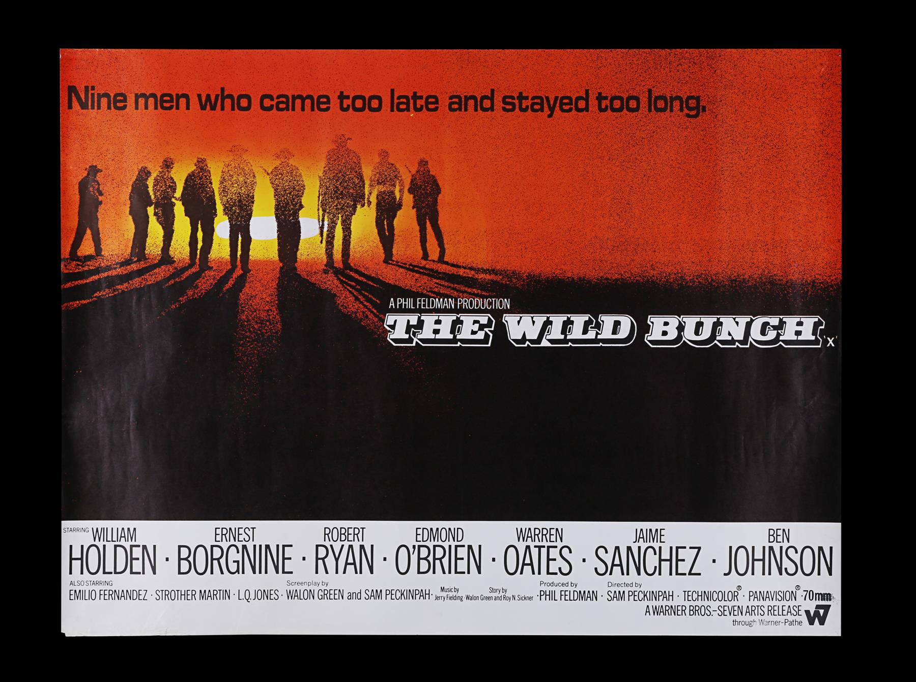 THE WILD BUNCH (1969) - UK Quad (Roadshow Style), 1969