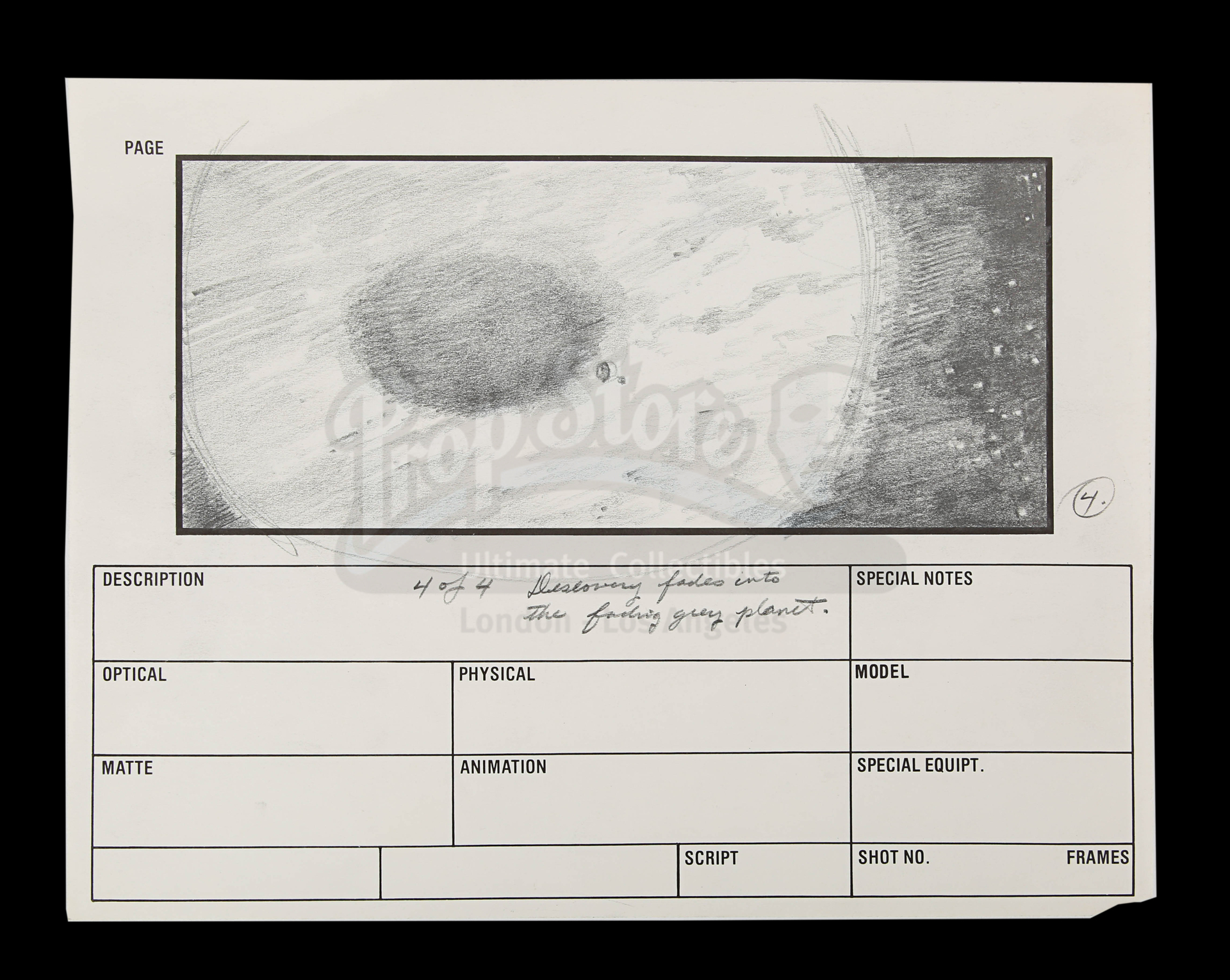 2010: THE YEAR WE MAKE CONTACT (1985) - Hand-Drawn Storyboards: Jupiter Escape - Image 6 of 9