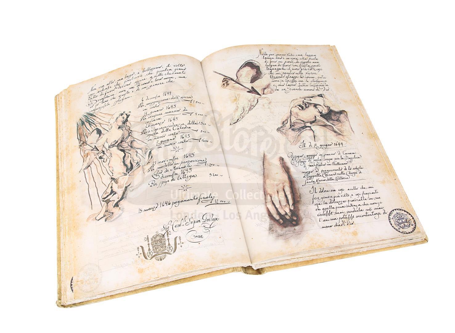 "ANGELS & DEMONS (2009) - Ancient Vatican ""Bernini"" Ledger - Image 22 of 34"