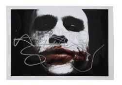 THE DARK KNIGHT (2008) - Heath Ledger 'Joker' Autographed Photo