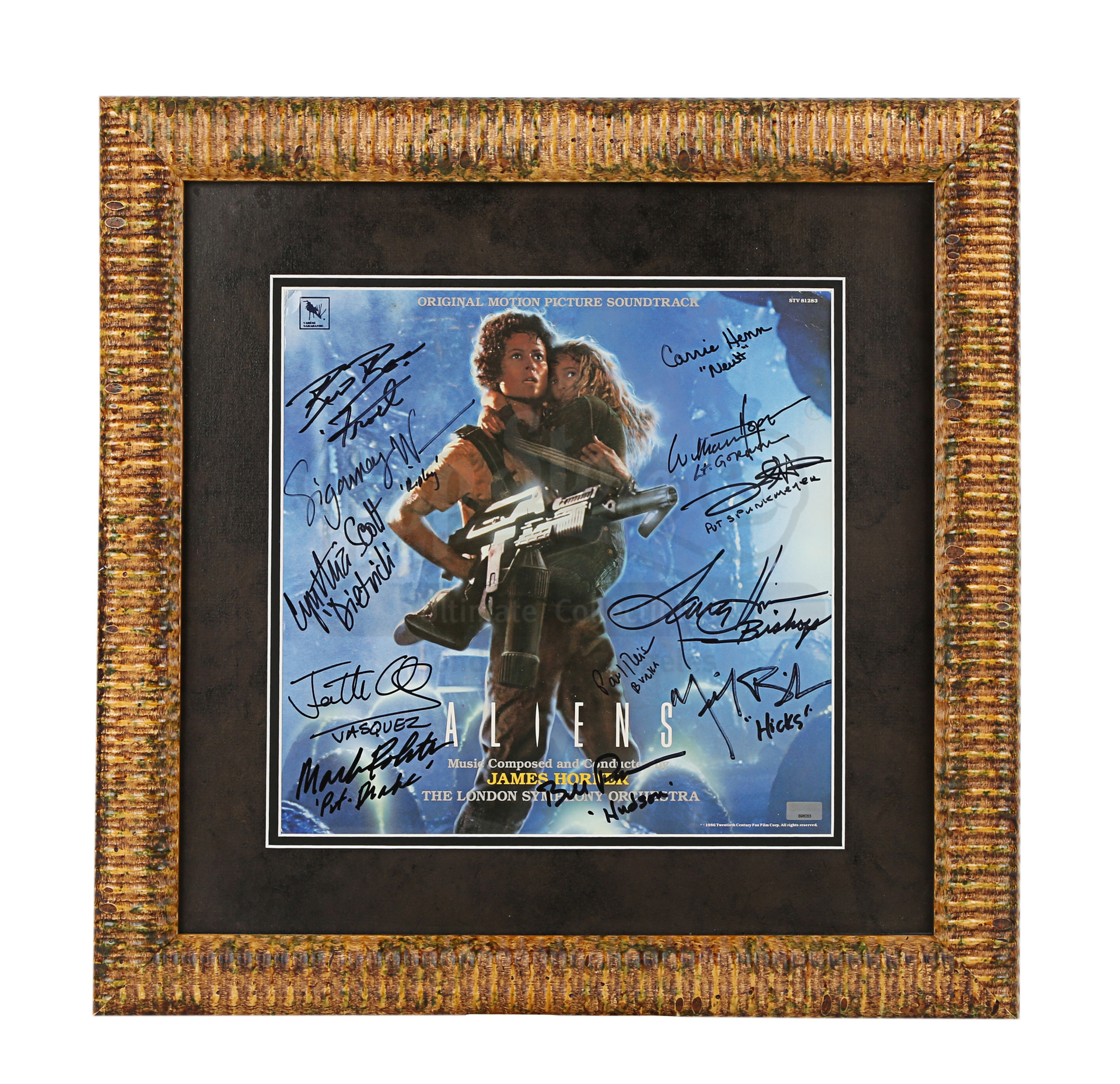 ALIENS (1986) - Framed Cast-Autographed Soundtrack Cover - Image 2 of 5