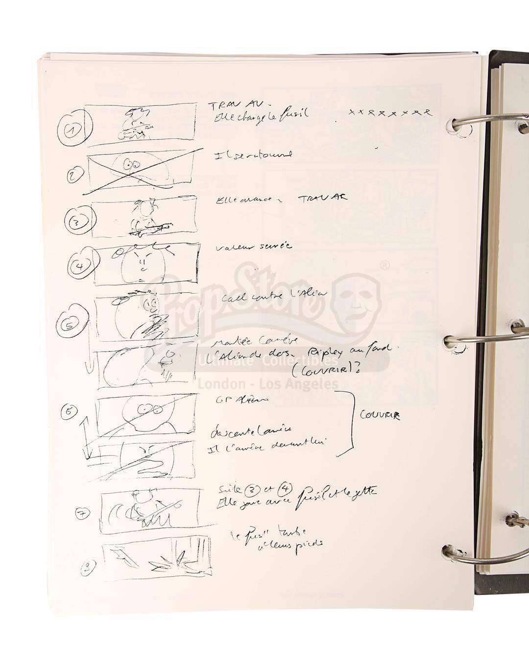 ALIEN RESURRECTION (1997) - Jean-Pierre Jeunet's Personal Storyboard Binder - Image 9 of 10