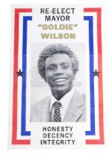 BACK TO THE FUTURE (1985) - Mayor Goldie Wilson (Donald Fullilove) Campaign Poster