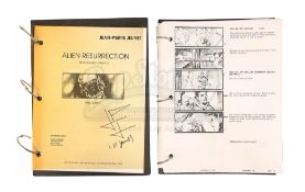 ALIEN RESURRECTION (1997) - Jean-Pierre Jeunet's Personal Storyboard Binder