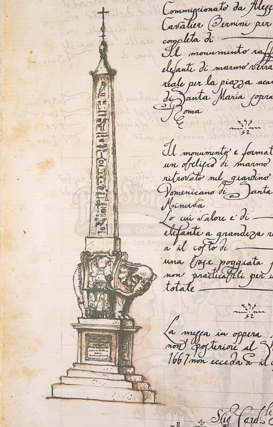 "ANGELS & DEMONS (2009) - Ancient Vatican ""Bernini"" Ledger - Image 27 of 34"