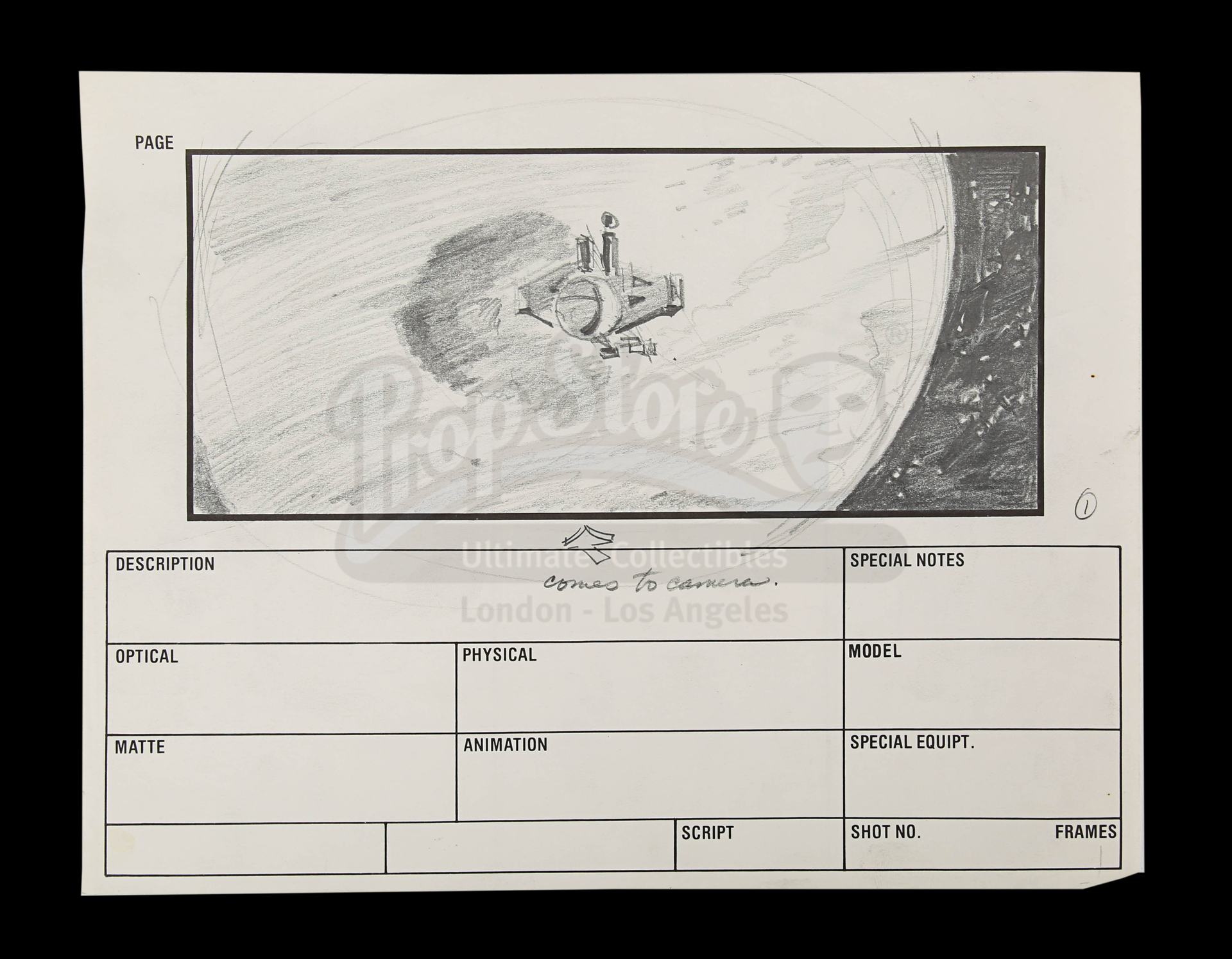 2010: THE YEAR WE MAKE CONTACT (1985) - Hand-Drawn Storyboards: Jupiter Escape - Image 5 of 9
