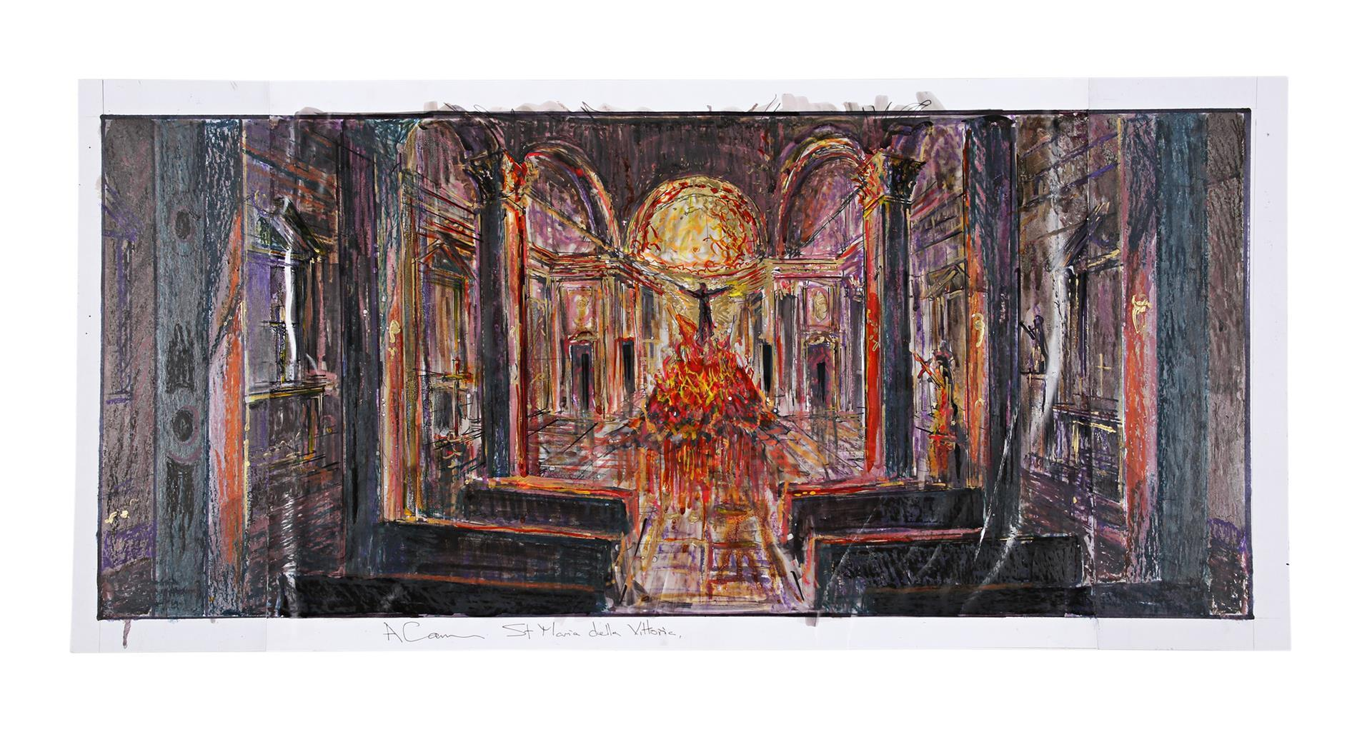 ANGELS & DEMONS (2009) - Collection of Allan Cameron Hand-painted and Printed Rome and Vatican City - Image 3 of 16