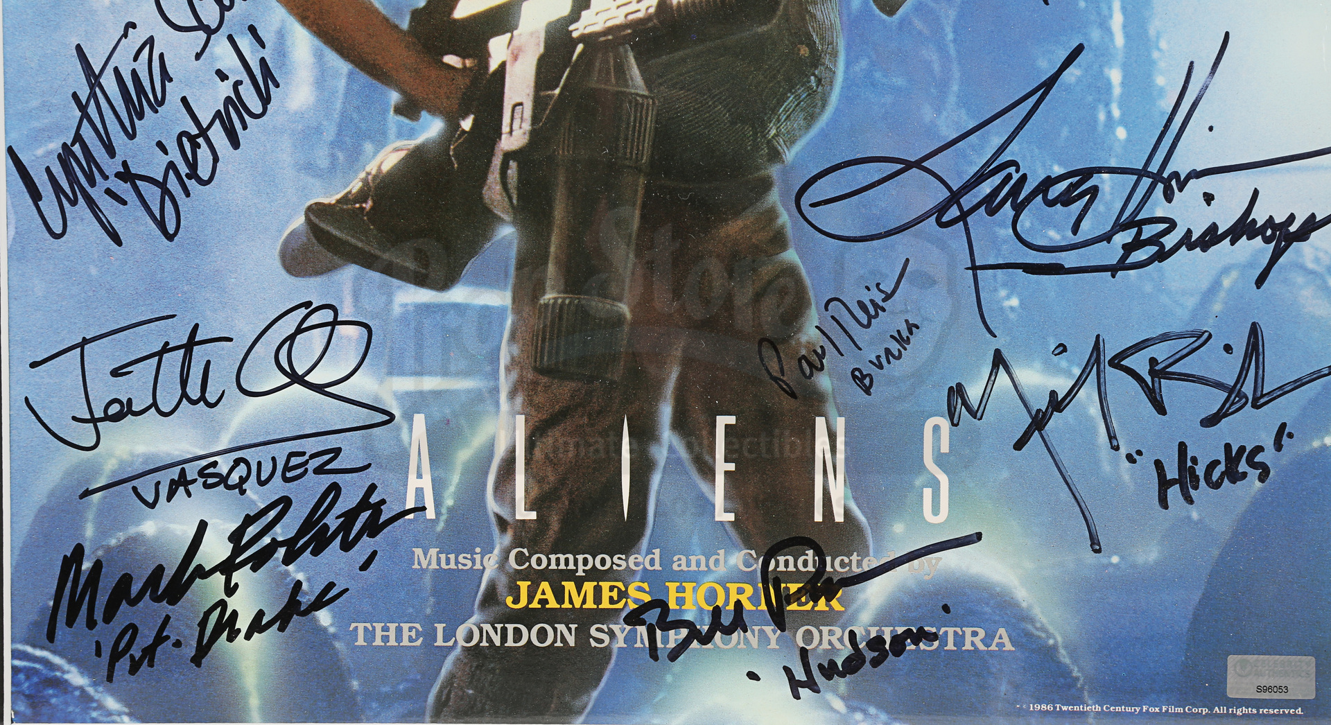 ALIENS (1986) - Framed Cast-Autographed Soundtrack Cover - Image 5 of 5