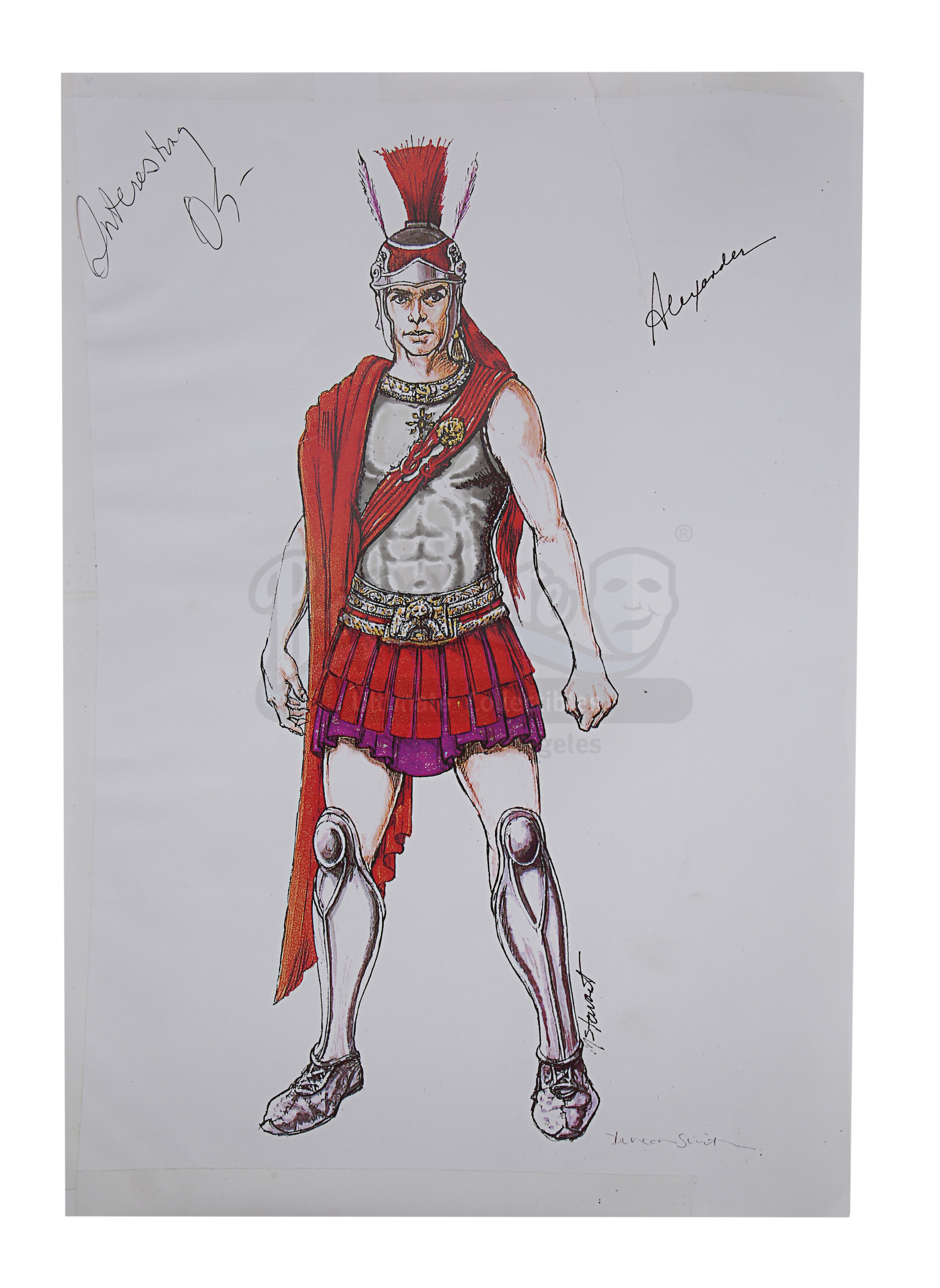 ALEXANDER (2004) - Hand-Drawn Alexander (Colin Farrell) Costume Sketches, Printed Character Concept - Image 2 of 10