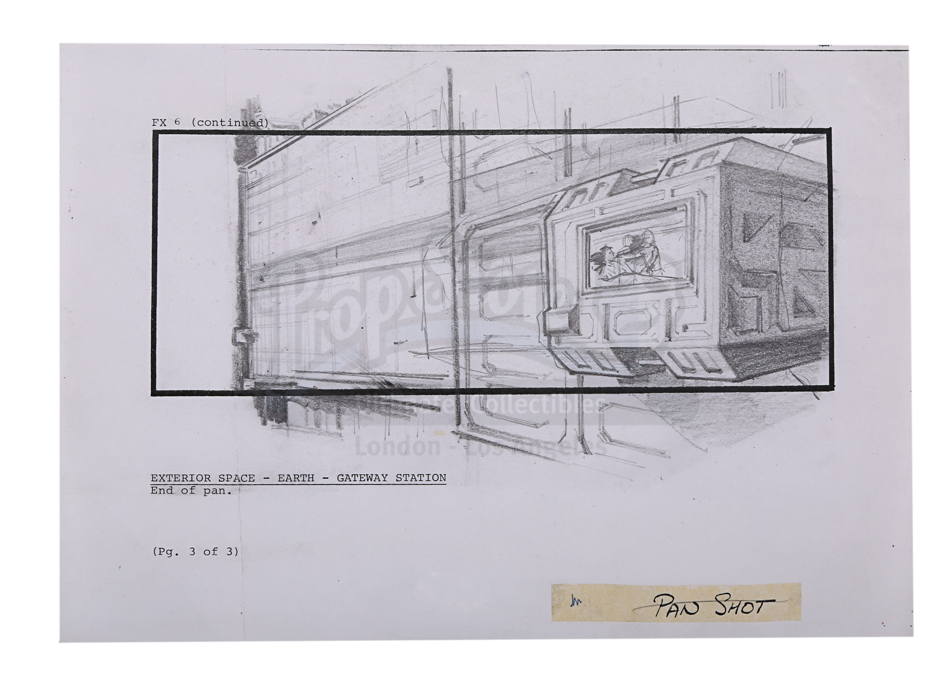 ALIENS (1986) - Two Pencil Storyboards Featuring Ripley (Sigourney Weaver) and Burke (Paul Reiser) - Image 4 of 6